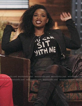 Jennifer Hudson's You Can Sit With Me T-shirt on The Voice