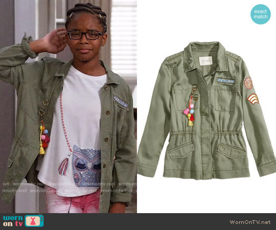 Jessica Simpson Emilia Utility Jacket worn by Diane Johnson (Marsai Martin) on Blackish
