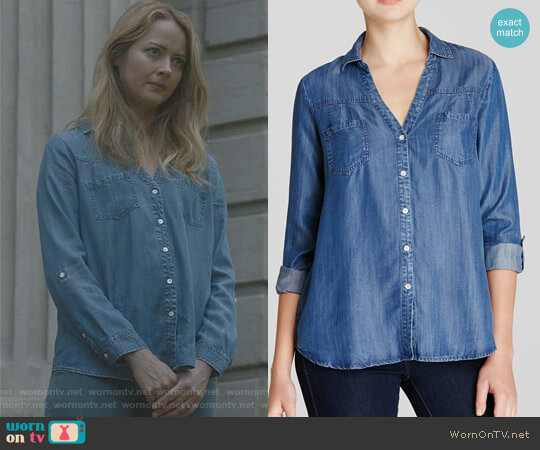 'Brady' Chambray Shirt by Joie worn by Amy Acker on The Gifted