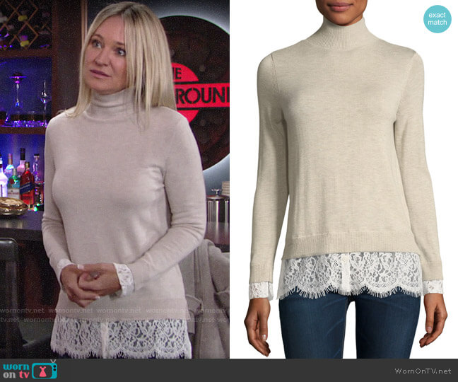 Joie Fredrika Sweater worn by Sharon Collins (Sharon Case) on The Young & the Restless