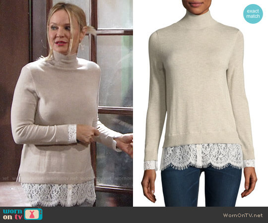 Joie Fredrika Sweater worn by Sharon Case on The Young & the Restless