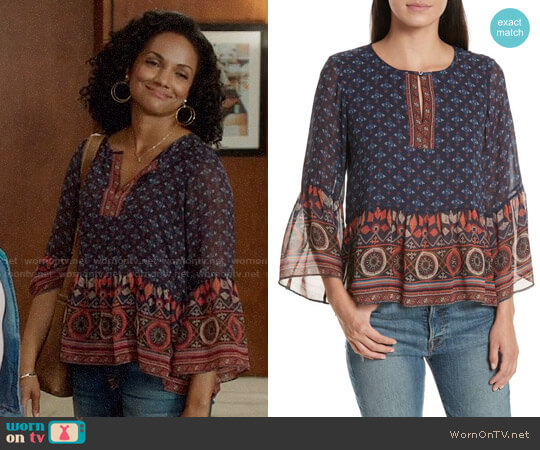 Joie Hakima Top worn by Mekia Cox on OUAT