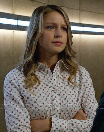 Kara's flower print shirt on Supergirl / Arrow / The Flash