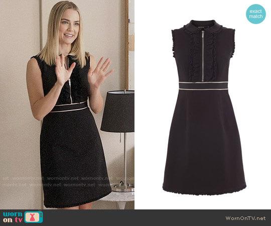 Karen Millen Ruffle Trim Smart Dress worn by Rebecca Rittenhouse on The Mindy Project