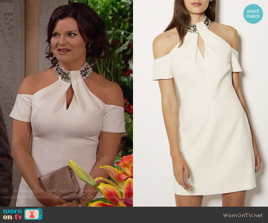 Karen Millen Jewel Collar Dress worn by Katie Logan (Heather Tom) on The Bold & the Beautiful