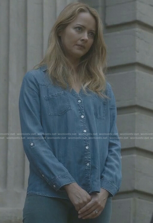 Kate's chambray shirt on The Gifted
