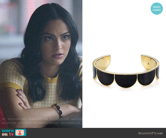 Kate Spade Scalloped Cuff worn by Veronica Lodge (Camila Mendes) on Riverdale