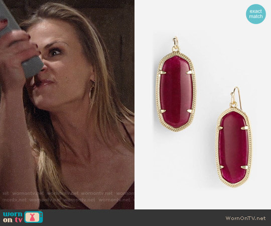 Kendra Scott Elle Earrings worn by Gina Tognoni on The Young & the Restless