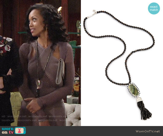 Kendra Scott Tatiana Necklace worn by Hilary Curtis (Mishael Morgan) on The Young & the Restless
