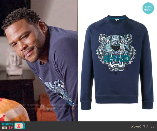 Kenzo Tiger Embroidered Sweatshirt worn by Anthony Anderson on Blackish