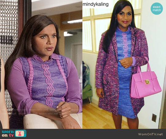 Knitsy Knits Custom Made Top worn by Mindy Lahiri (Mindy Kaling) on The Mindy Project