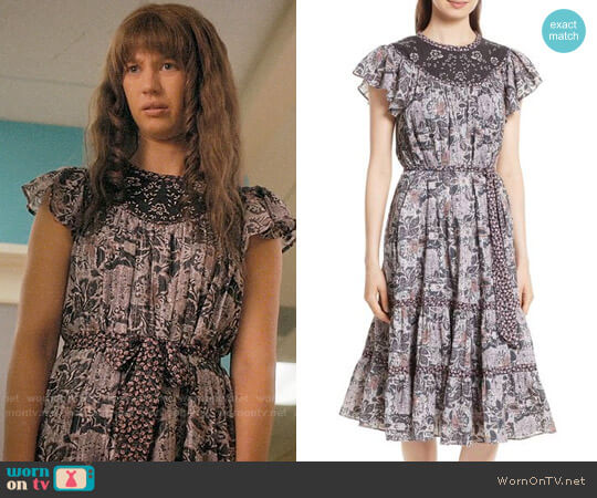 La Vie Rebecca Taylor Indochine Embroidered Floral Dress worn by Anezka Archuletta (Yael Grobglas) on Jane the Virgin