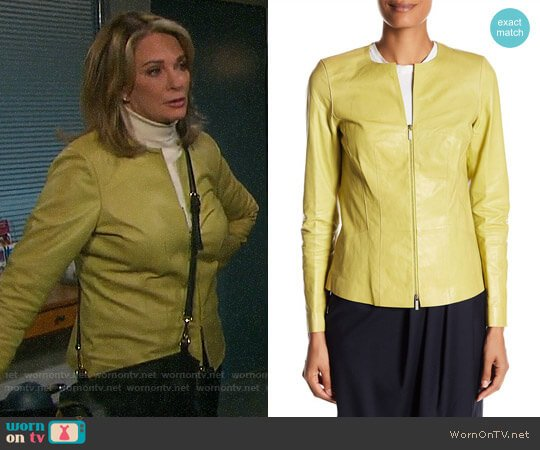 Lafayette 148 New York Maris Leather Jacket worn by Deidre Hall on Days of our Lives