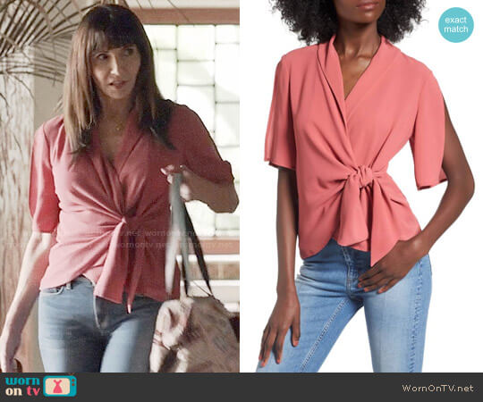 Leith Tie Front Wrap Top worn by Gail Klostermann (Mary Steenburgen) on Last Man On Earth