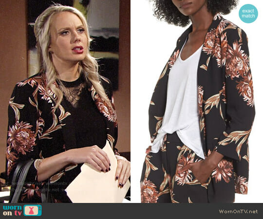 Leith Floral Print Blazer worn by Abby Newman (Melissa Ordway) on The Young & the Restless