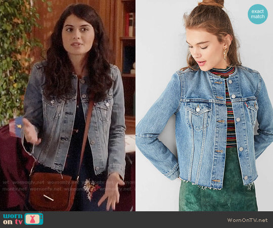 Levi's Altered Collarless Denim Jacket worn by Sabrina Pemberton (Sofia Black D'Elia) on The Mick