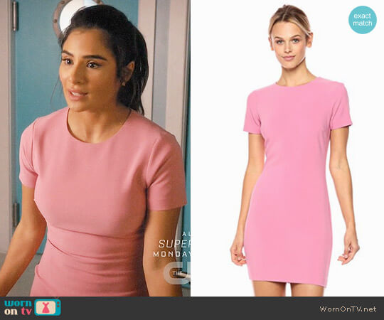Likely Manhattan Dress in Carnation worn by Diane Guerrero on Jane the Virgin