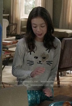 Lily's cat sweater on Modern Family