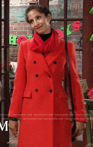 Lily's red coat on The Young and the Restless