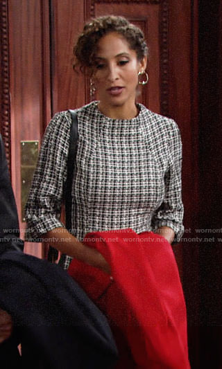 Lily's tweed dress on The Young and the Restless