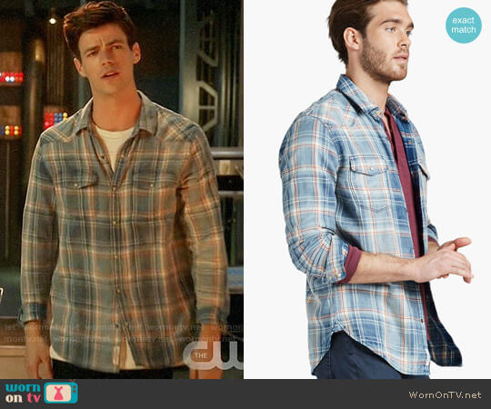 Lucky Brand Grom Plaid Shirt worn by Grant Gustin on The Flash