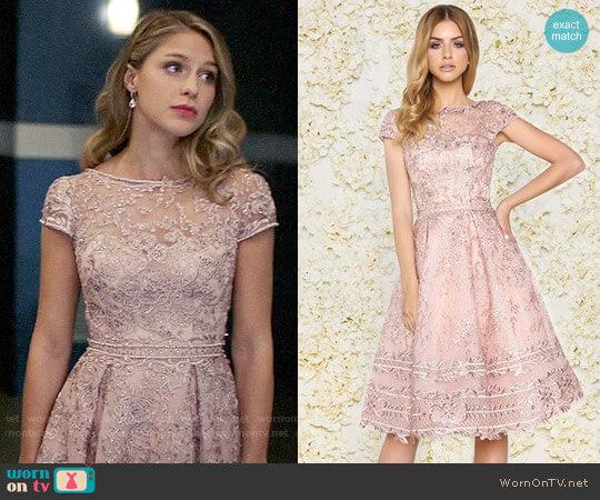 Mac Duggal #50424D Dress in Rose worn by Melissa Benoist on Supergirl