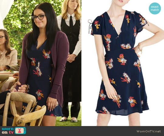 Madewell Cactus Flower Silk Dress worn by Ariel Winter on Modern Family