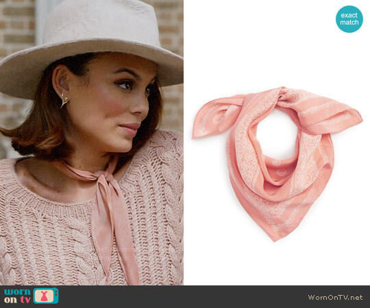 Silk Bandana by Madewell worn by Nathalie Kelley on Dynasty