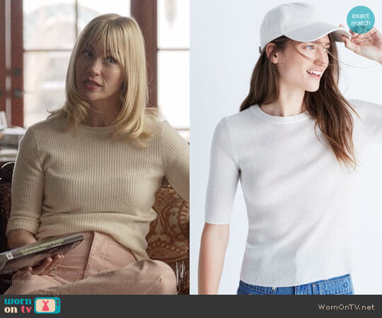 Madewell Ribbed Sweater Top worn by January Jones on Last Man On Earth