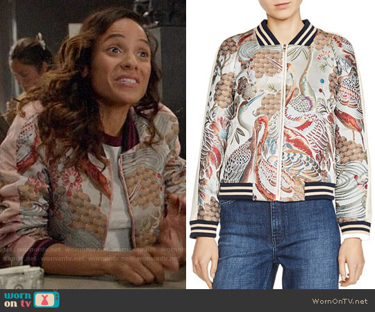Maje Boyan Jacket worn by Jacinda (Dania Ramirez) on OUAT