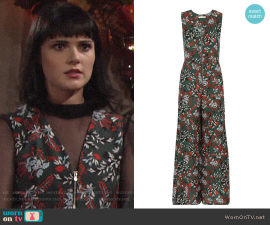 Maje Penny Jumpsuit worn by Cait Fairbanks on The Young & the Restless