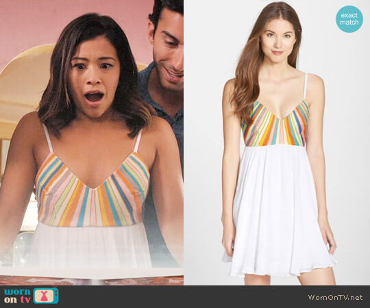 Mara Hoffman Embroidered Tie Back Dress worn by Gina Rodriguez on Jane the Virgin