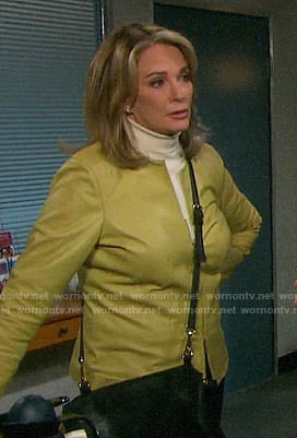 Marlena's yellow leather jacket on Days of our Lives