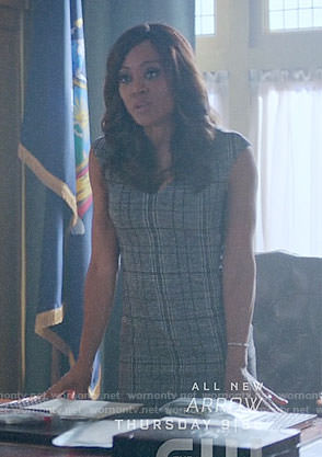 Sierra's grey plaid dress on Riverdale