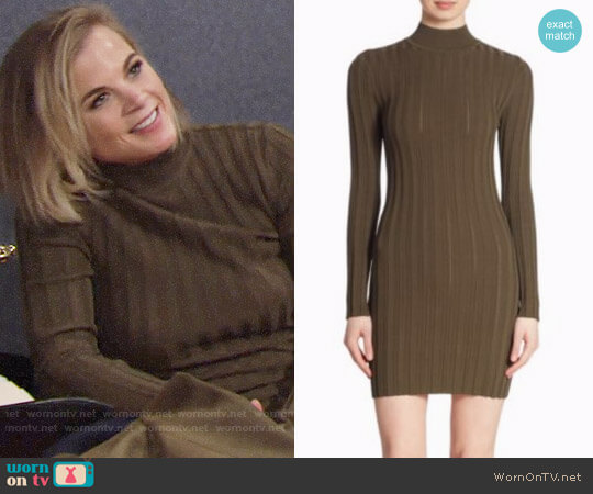 McQ Alexander McQueen Ribbed Open Back Dress worn by Gina Tognoni on The Young & the Restless