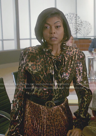 Cookie's leopard print blouse and skirt on Empire
