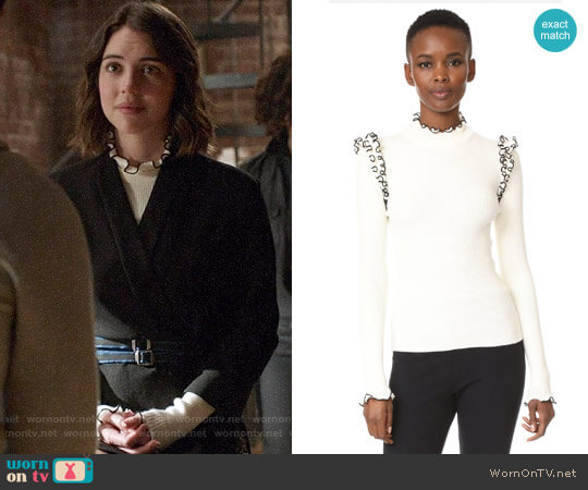 MSGM Ribbed Ruffle Sweater worn by Ivy Belfrey (Adelaide Kane) on OUAT