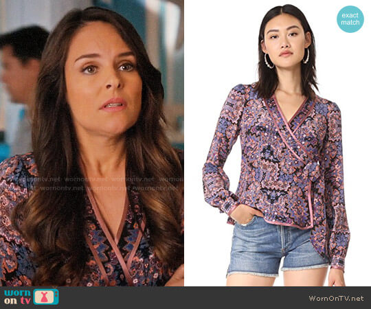 Nanette Lepore Dream Time Top worn by Luisa Alver (Yara Martinez) on Jane the Virgin