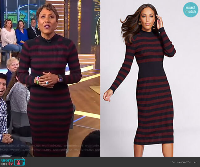 Mock Neck Sweater Dress - Gabrielle Union Collection by New York & Company  worn by Robin Roberts on Good Morning America