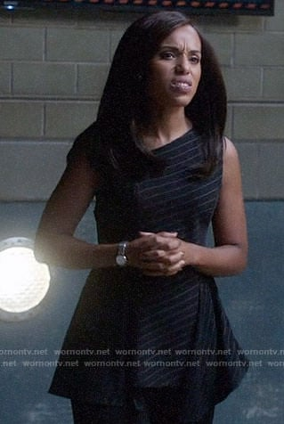 Olivia's pinstriped peplum top on Scandal