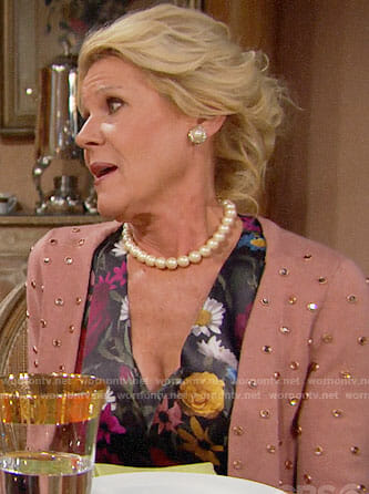 Pam's floral Thanksgiving dress on The Bold and the Beautiful