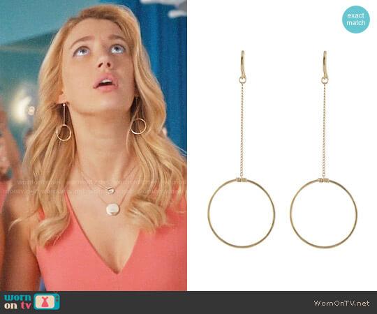 Peggy Li Simple Circle Earrings worn by Petra Solano (Yael Grobglas) on Jane the Virgin