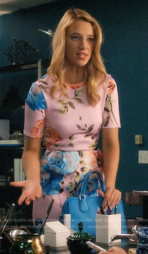 Petra's pink rose print dress on Jane the Virgin