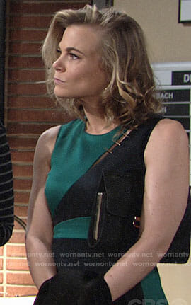 Phyllis's green colorblock dress on The Young and the Restless