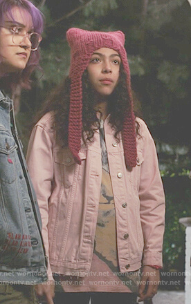 Molly's pink denim jacket on Marvel's Runaways
