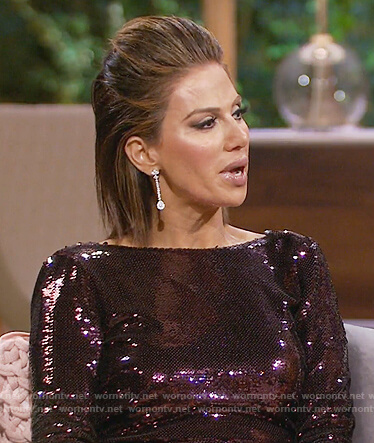 Peggy's purple long sleeve sequin dress on The Real Housewives of OC