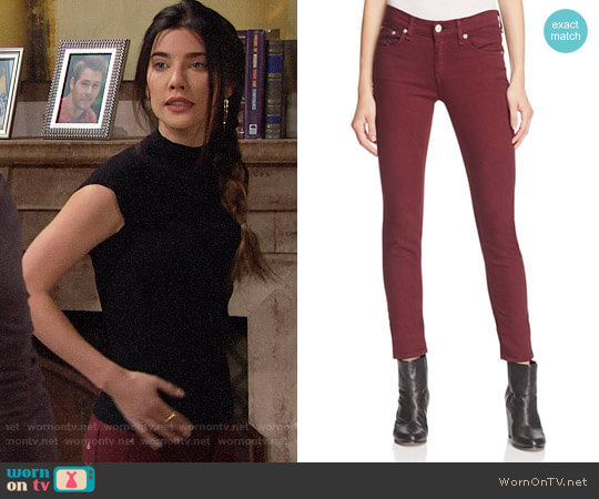 Rag & Bone Skinny Jeans in Port worn by Jacqueline MacInnes Wood on The Bold & the Beautiful