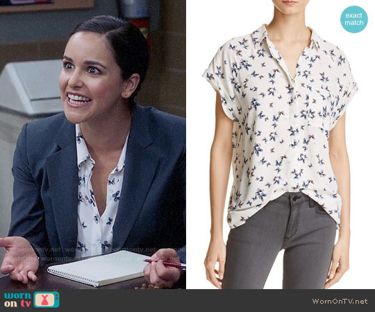 Rails Chase Butterfly Print Shirt worn by Amy Santiago (Melissa Fumero) on Brooklyn Nine-Nine