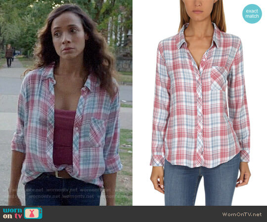 Rails Hunter Shirt in Rosewood Sky worn by Dania Ramirez on OUAT