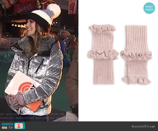 Ruffle Fingerless Gloves by Rebecca Minkoff worn by Savannah Guthrie on Today